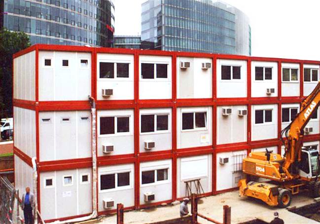 ERWE Containersysteme - Anwendungsbeispiel: Baustellen-Containeranlagen