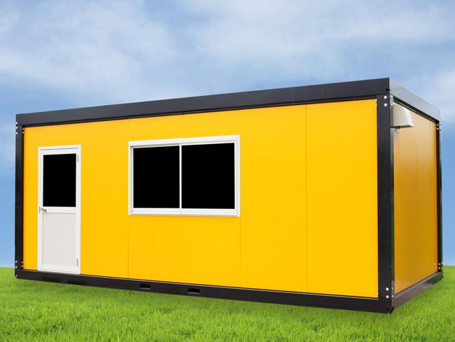 ERWE Containersysteme - Anwendungsbeispiel: Einzelcontainer z.B. als Baustellencontainer, Bürocontainer oder Verwaltungscontainer
