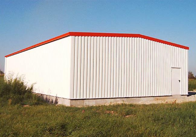 ERWE Containersysteme - Anwendungsbeispiel: Hallenbau/Schnellbauhallen – Werkhallen, Lagerhallen und Produktionshallen