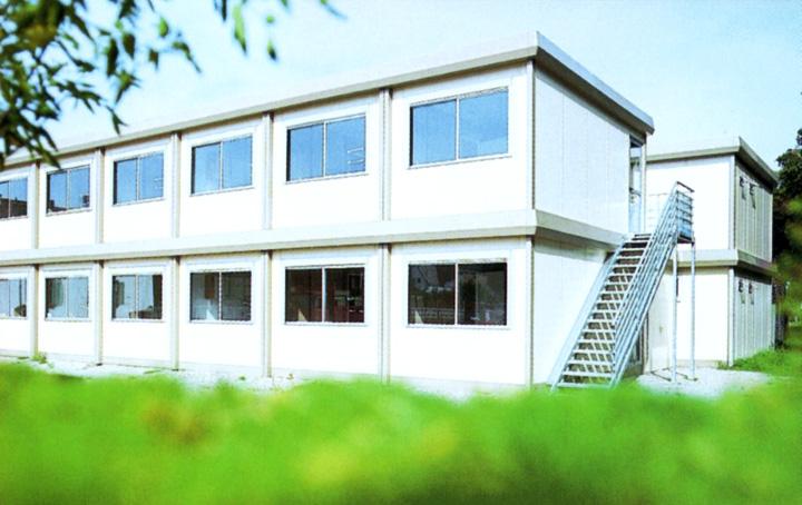 ERWE Containersysteme - Anwendungsbeispiel: Wohnmodule - Wohn- und Pflegeheime, Notunterkünfte und Flüchtlingsdörfer