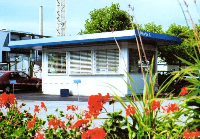 ERWE Containersysteme - Anwendungsbeispiel: Pförtnerhäuser, Kassenschalter, Pavillons und ähnliche Containerbauten