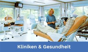 Kliniken, Krankenhäuser, Ärzte und Gesundheitsimmobilien wie z.B. Dialysezentren